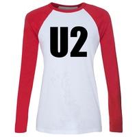 U2 Alternative Rock Band Bono Adam Larry The Edge Raglan Long Sleeve T Shirt Women Spring