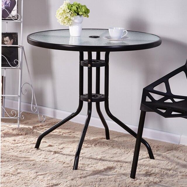 Estilo europeo cristal redonda mesa de negociaciones mesas y sillas ...