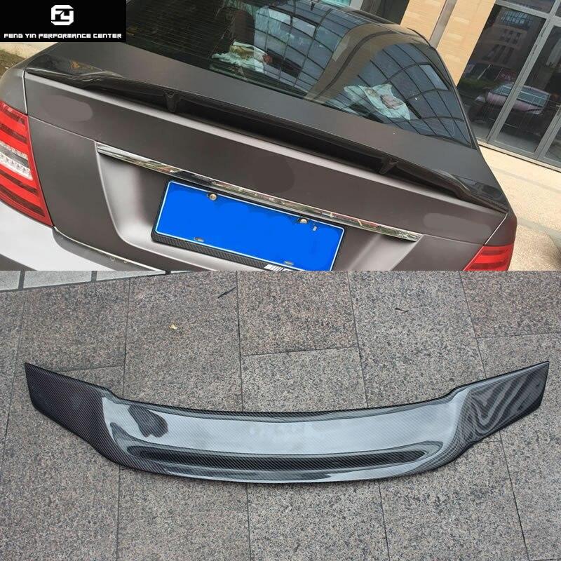 W204 C200 C300 R Стиль углеродного волокна сзади крылья спойлера ДЛЯ Mercedes Benz W204 sedan 08 14