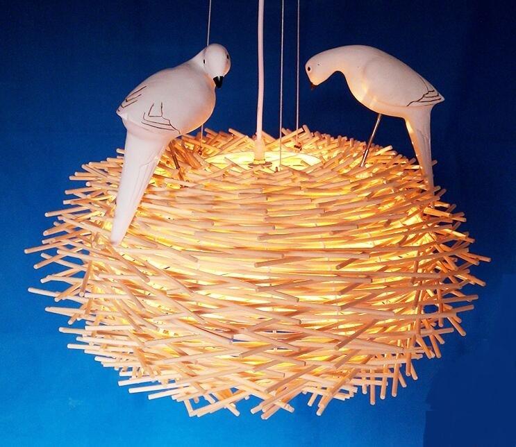 Lampes suspendues de pays américain style européen français rétro jardin oiseaux salon salle à manger courrier LU630 ZL40
