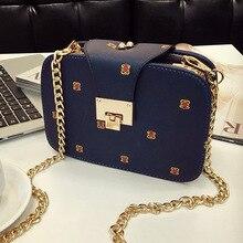 2017 neue Koreanische Mode Frauen Leder Handtasche Lässig Messenger Bags Crossbody Kette Tasche bolsa feminina