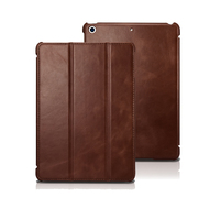Ultra thin Cowhide Genuine Leather Case for iPad 9.7 2017 Luxury Real Leather Retro Business Stand Smart Cover for iPad 9.7