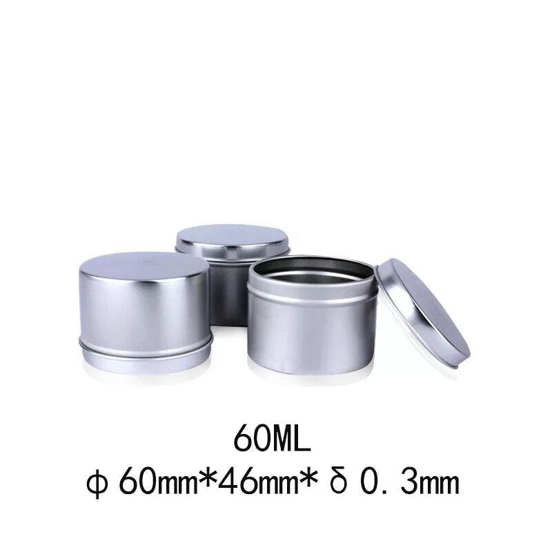 200 pcs 60*46mm 60 ml 내구성 알루미늄 금속 화장품 냄비 립 밤 ccream 항아리 컨테이너 오일 왁 스 컨테이너 병 촛불 수 상자-에서보틀 ,잼병 & 상자부터 홈 & 가든 의  그룹 1