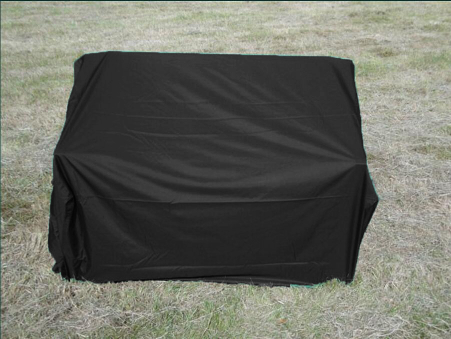 Protector 2 seater Bench cover-135cm,135x75x65/100cm, Black color waterproofed cover protective cover,Outdoor wooden chair cover