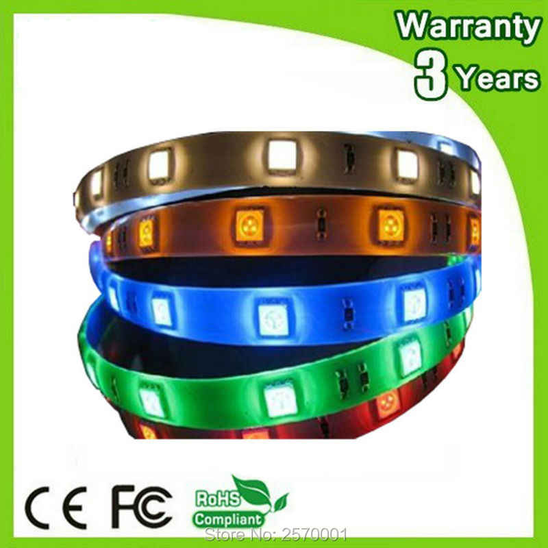 5 M 300 LEDs SMD5050 60 LEDs/m 2 Tahun Garansi Epistar Chip IP65 Tahan Air 12 V Fleksibel RGB LED Strip 5050