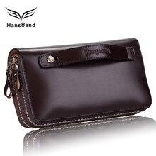Genuine Leather Men Clutch Wallets Luxury Brand Wallet Big Capacity Famous Designer Men Wallet  Fashion Male Purse Phone Bag