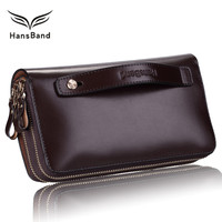 Genuine Leather Men Clutch Wallets Luxury Brand Wallet Big Capacity Famous Designer Men Wallet Fashion