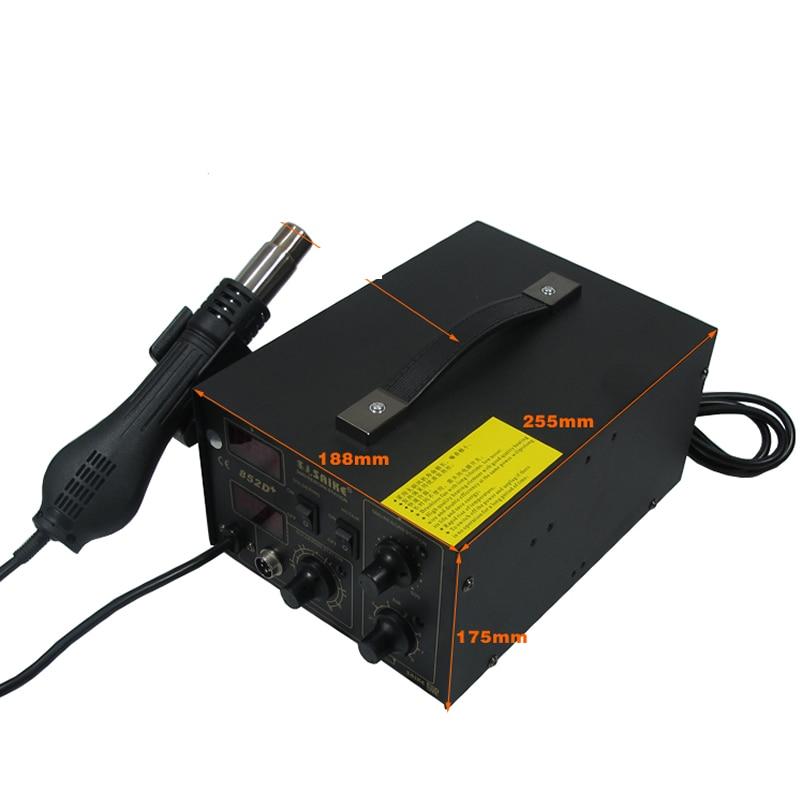 Hot air soldering station SAIKE 852D+ Hot air gun and soldering iron 2 in 1 электрический паяльник 849 d saike 2 1 220 110 saike 852d 852d