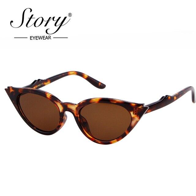 6fe0926040 STORY 2018 Sexy Small Leopard Cateye Sunglasses Women Vintage Black White Fashion  Cateye Sun Glasses For Female Eyewear Shades