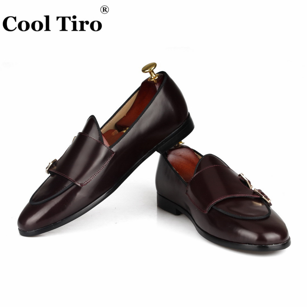 POLISHED LEATHER DOUBLE-MONK LOAFERS Brown (7)