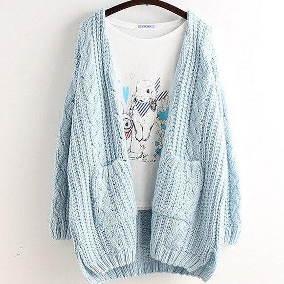 5 цветов -- твист v-образным вырезом свободного покроя свободную кардиган 2015 осенью свитер бесплатная прямая поставка