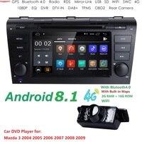 Hizpo 7 Inch Android 8.1 Car Radio For 2009 2008 2097 2006 MAZDA 3 GPS Navi Wifi 4G Multimedia Player Head Unit Auto Stereo