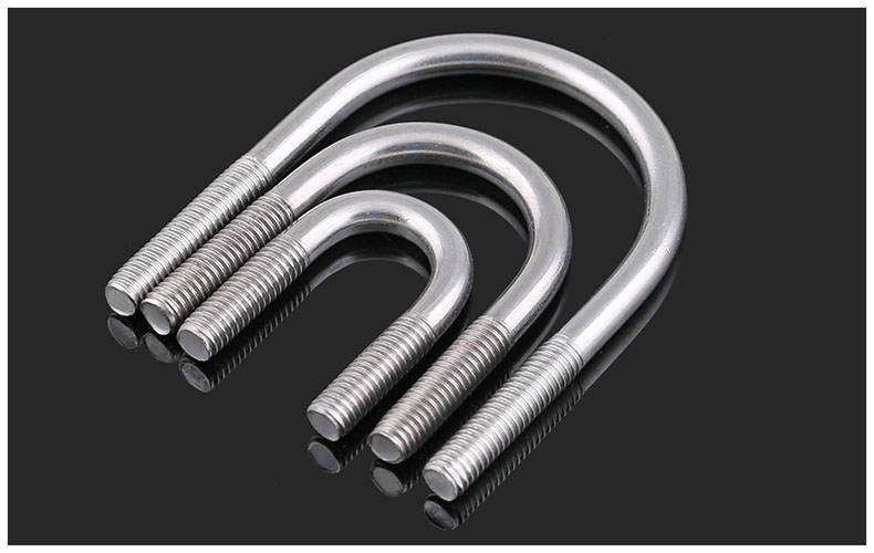 304 stainless steel U shaped bolt U screws M6 M8 M10 M12 U type tube U bolts riding tube hoop