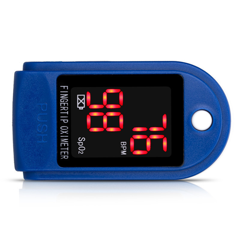 household Medical Digital Fingertip LED Pulse Oximeter Blood Oxygen Saturation Monitor high Accurate Family Health Care device