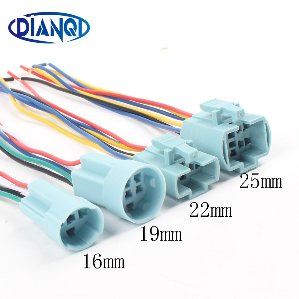 6 Pin Wire Harness Socket  Holder Connector For 22mm Metal Button Switch ATF