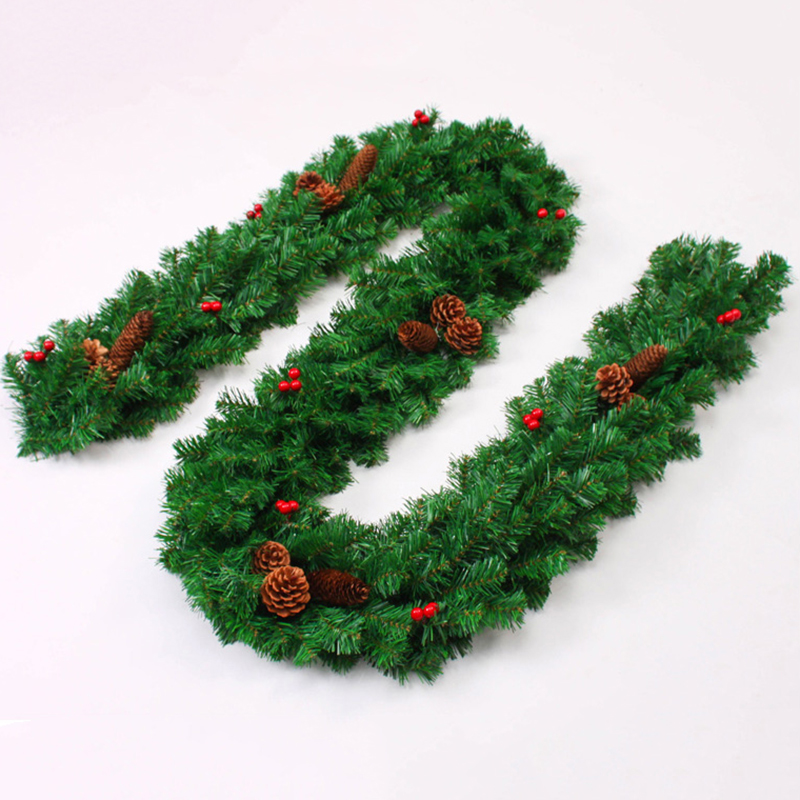 Red Red Pine Christmas Tree: 2017 Luxury 270 Cm X 25 Cm Thick Christmas Garland Pine