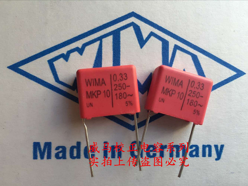 2019 hot sale 10pcs 20pcs Germany WIMA MKP10 250V 0 33UF 250V 334 330nf P 15mm Audio capacitor free shipping in Capacitors from Electronic Components Supplies