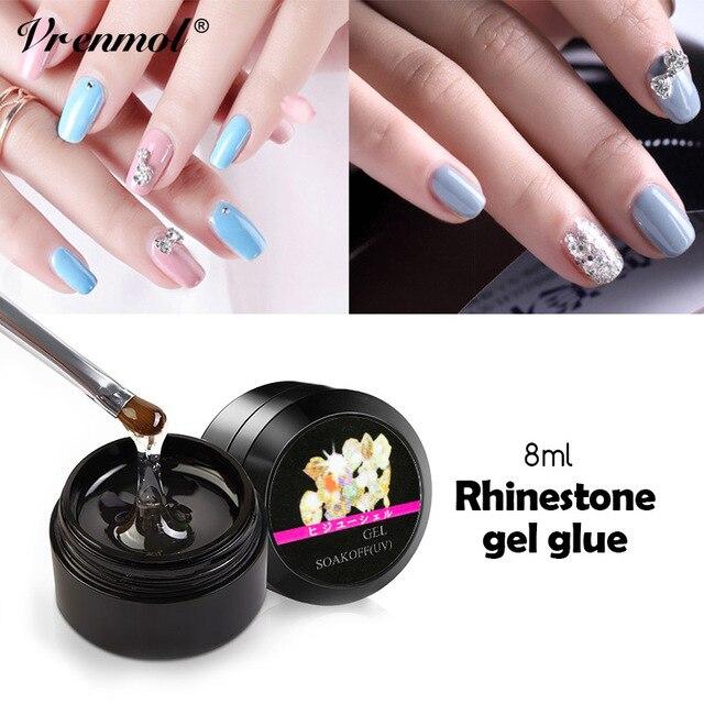 Vrenmol 1pcs Super Sticky Nail Art Rhinestone Glue UV Gel Adhesives ...