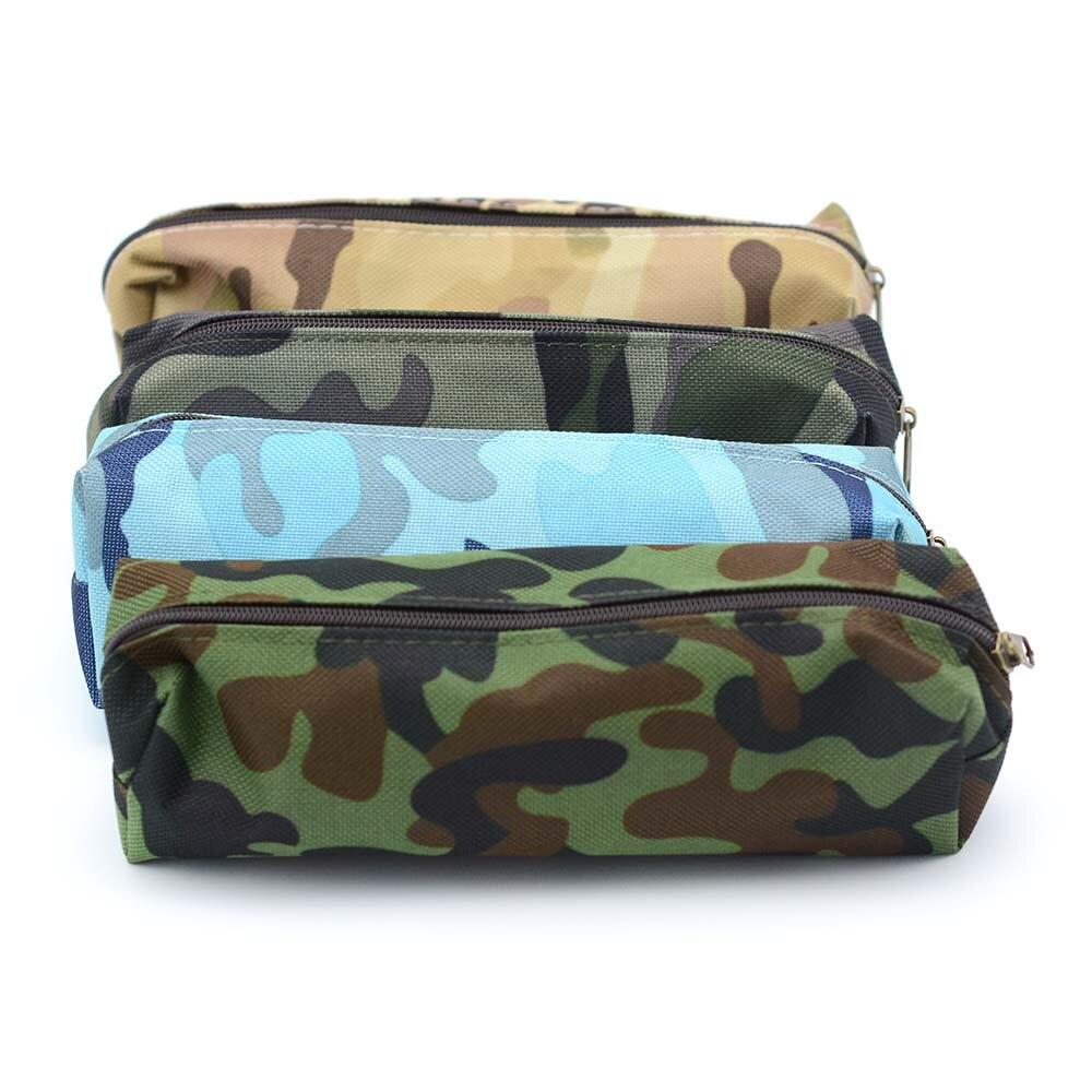 Camouflage Pencil Case Storage Organizer Bag Zipper Pouch School Student