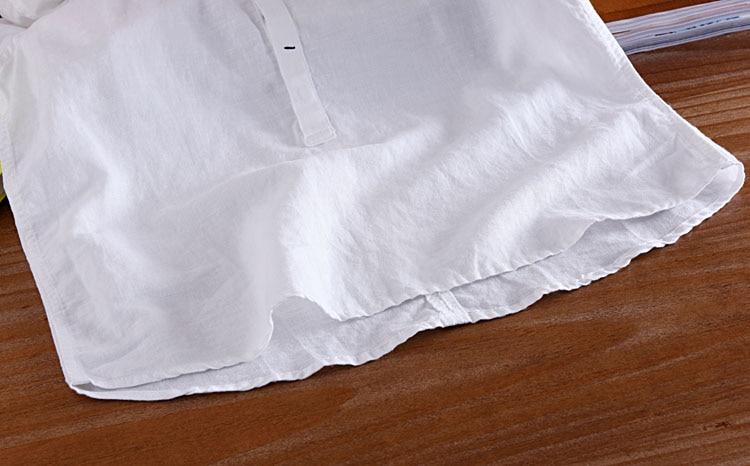 Moška srajca s kratkimi rokavi poletne platnene majice moška - Moška oblačila - Fotografija 6