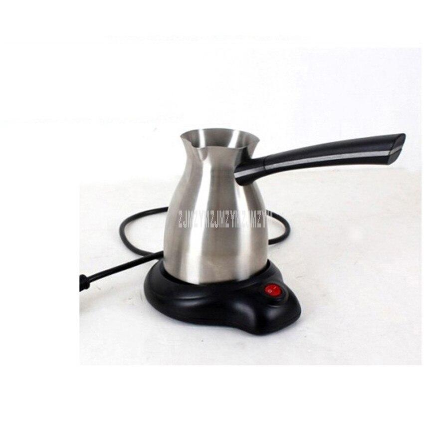 300 мл Кофеварка электрическая 304 нержавеющая сталь индейка чайник с длинной ручкой теплый молочный Мока чайник Турецкий кофейник