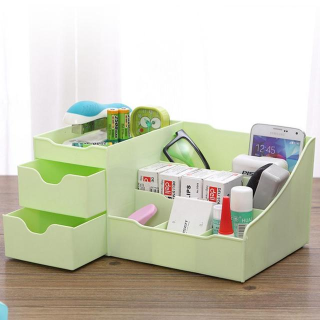 Plastic Desktop Cosmetic Jewelry Organizer Holder Box Storage Case