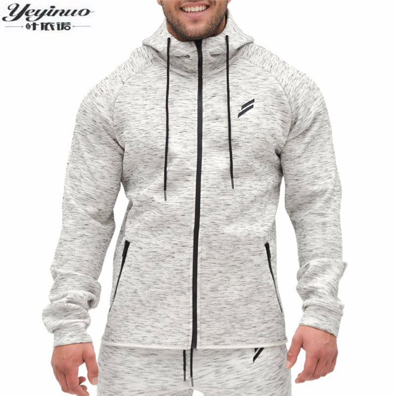 High Quality Autumn Men Zipper Hoodies Long Sleeve Body bulding Shark Hoodies Sweatshirts Muscle Fit Clothes