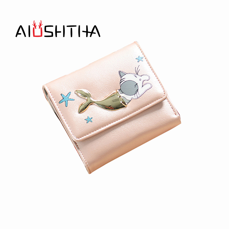 cat women wallets and purses for girls leather carteira cute short coin purse card holder female mini cartoon portefeuille femme cartoon anime wallets red hot chili peppers carteira purse gift teenager card holder bag portefeuille femme leather short wallet