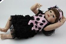 Collectible 23 Inch Full Silicone Vinyl Reborn Girl Dolls Realistic Newborn Baby Toys Baby Alive Dolls Kids Birthday Kids