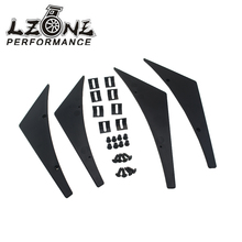LZONE RACING – New Universal Fit Front Bumper Lip Splitter Fins Body Spoiler Canards Valence Chin JR-BS21