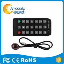 LEVOU apoio controlador HD single & dual color led controlador remoto para led cartão de controle de sinal como huidu HD-S63 HD-S62