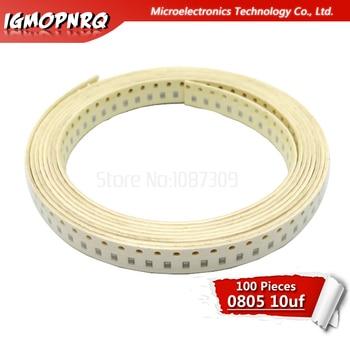 100 sztuk 10UF X5R błąd 10% 10V 0805 106 SMD grubej folii Chip wielowarstwowy kondensator ceramiczny