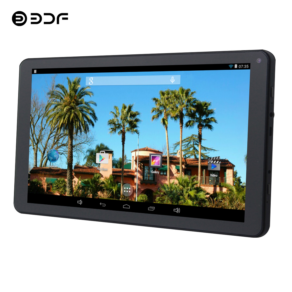 BDF New Tablet 9 Inch Tablet Pc Quad Core Android 5.1 RK3126 Mini Pad Tablet Kids 1GB+8GB WiFi Tablets 7 8 9 10 Play Store Tab