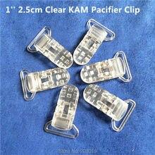 50 adet 1 25mm şerit boşluk şeffaf şeffaf KAM plastik bebek emzik kukla emzik tutucu zinciri klipleri jartiyer klipleri