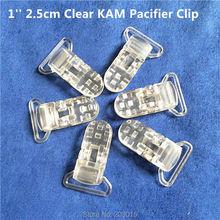 50pcs 1 25mm ริบบิ้น Gap ใส KAM พลาสติกเด็ก Pacifier Dummy จุกนมหลอก CHAIN คลิป Suspenders คลิป