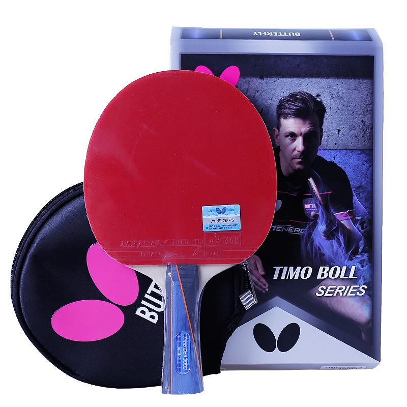 Butterfly 1000 2000 3000 Table Tennis Racket With Rubber Pingpong Paddle Short Handle Tennis Table Rackt