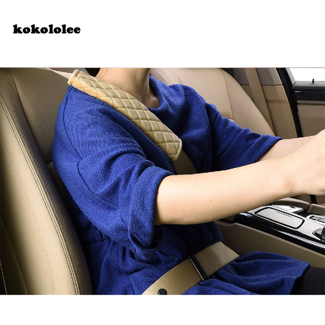 Kokololee Artificial Fur Car Seat Belt Cover Safety Shoulder Pad Soft Strap Protection