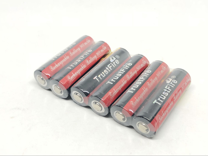 TrustFire AA <font><b>14500</b></font> <font><b>3.7V</b></font> 900mAh Lithium Battery Colorful Rechargeable Batteries with PCB Protection Board For Flashlights Torch image