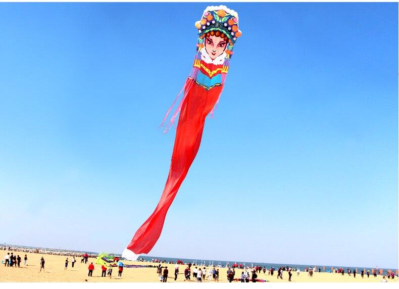 3D doux grand cerf-volant adulte style chinois opéra de pékin ligne unique cerfs-volants fabricants en plein air jouet usine de dessin animé en gros - 4