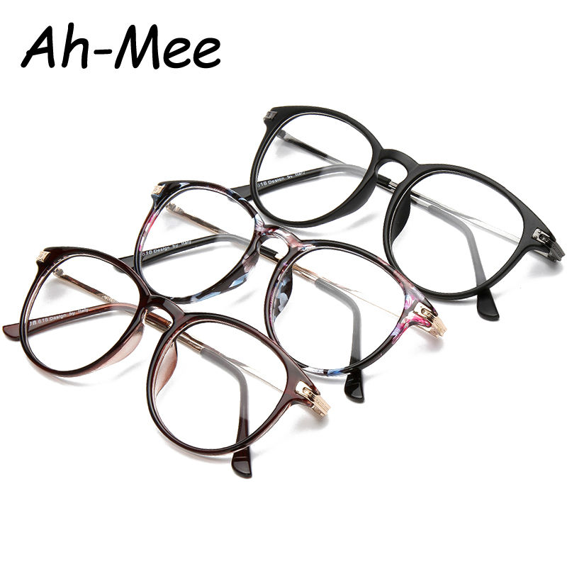 Brand Design Eyewear Frame For Women Plain Glasses Men Optical glasses Oversized Floral Round Clear Glasses  grau F15001