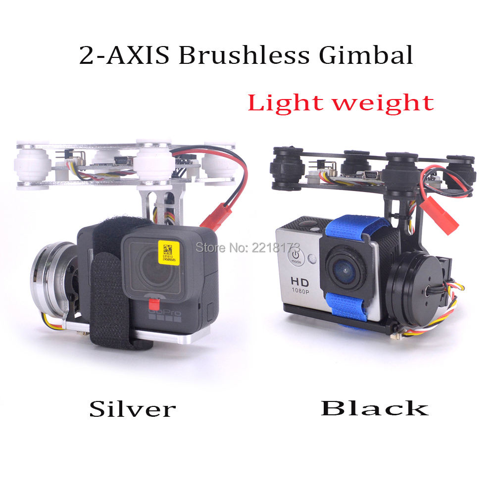 RTF FPV Lightweight 2-AXIS Brushless Gimbal Board with Sensor Free Debug with 2804 140kv motor For Drone Gopro 3 4 Quadcopter цена