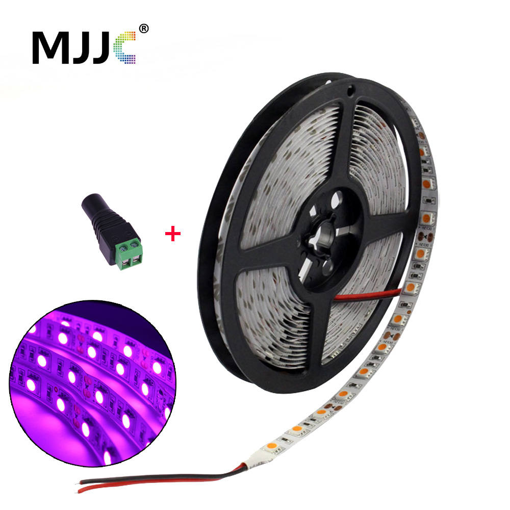 Bande LED rose 12V DC 5M 300 5050 SMD Strip Strip avec lampe DC Plug - Éclairage LED