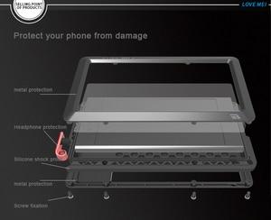 Image 3 - עבור Sony Xperia XZ1 Case אהבת מיי עפר הלם הוכחת מים עמיד מתכת שריון כיסוי טלפון עבור Sony Xperia XZ1 קומפקטי
