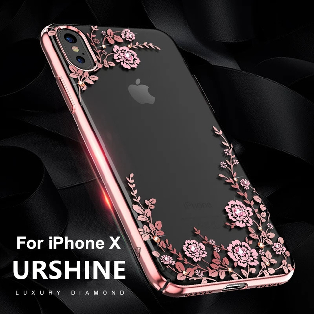 for Apple iPhone X Case for Girls and Women Luxury Fashion Crystal Glitter  Rhinestone Diamond Flower Phone Cvoer for Iphone x a914cc1983