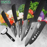 Noże kuchenne zestaw do gotowania noże ceramiczne zestaw 3 4 5 6 cal ceramiczne czarne ostrze Paring
