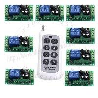 2015 DC Wireless Long Range Remote Relay Control Light Switch 12V 8CH SMD Power Remote Switch