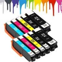 10x Cartucho de Impressora Compatível Para EPSON XP530 XP540 XP640 XP900 XP530 XP630 XP635 XP830 645 printer cartridges compatible printer cartridges cartridge for printer -