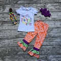 baby girls Halloween clothing girls I'm so Boo-tiful It's scary outfits girls Damask ruffle pant with matmching accessories