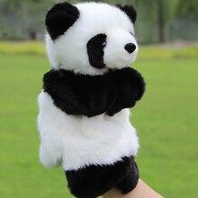 Ручные куклы в виде животных, куклы в виде панды, детские игрушки, мягкие плюшевые игрушки для детей, веселая семейная игрушка для детей, обучающая и развивающая игрушка