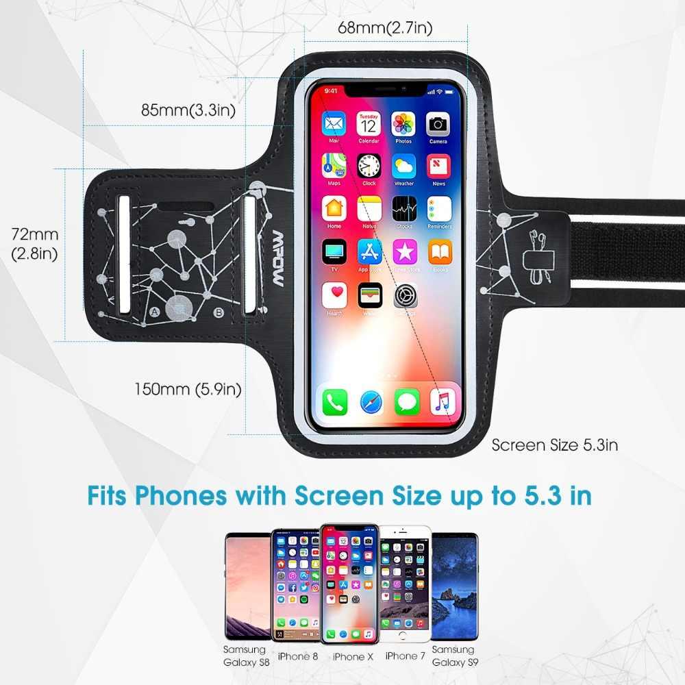 Mpow универсальный для размера экрана до 5,3 дюймов спортивный браслет звездное небо шаблон тренажерный зал нарукавник с кармашками для карт для iPhone samsung